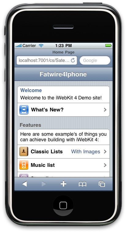 FatPhone home page