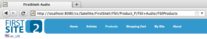 A better URL for FirstSiteII